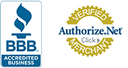 Better Business Bureau Accredited Business, Authorize.Net Verified Merchant