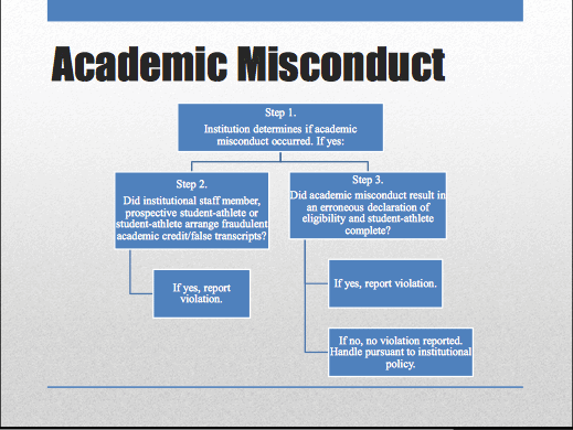 the types of academic misconduct
